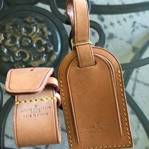 Authentic Louis Vuitton Luggage Tag Set